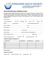 APPLICATION FOR CHAMA SAVINGS ACCOUNT